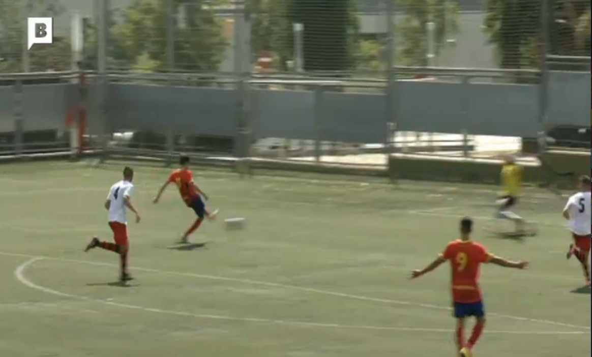 Captura de pantalla de les imatges de BTV del gol de Raventós // FOTO: BTV