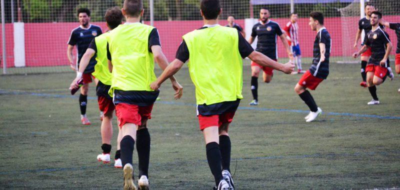 Els Jugadors Celebren L'1-2 D'Adri Ruiz A La Pròrroga // FOTO: Dani Falcón